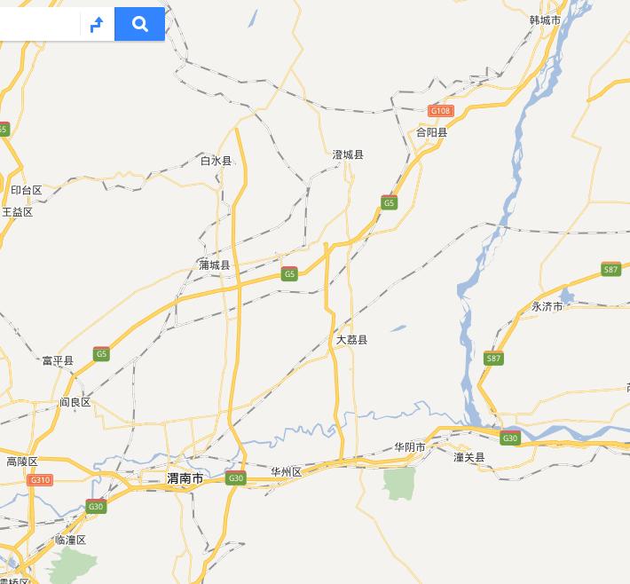 渭南市域地图